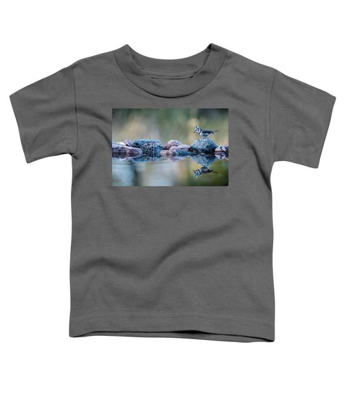 Crested Tit's Reflection Toddler T-Shirt