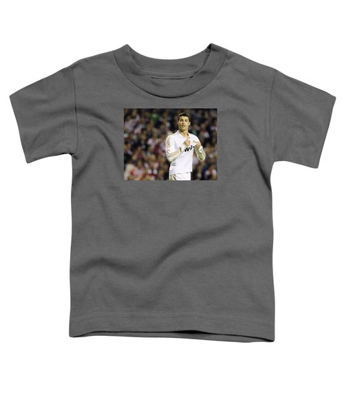 Cristiano Ronaldo 4 Toddler T-Shirt by Rafa Rivas