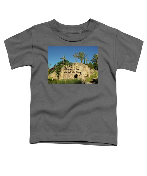 Crosses And Resurrection Toddler T-Shirt