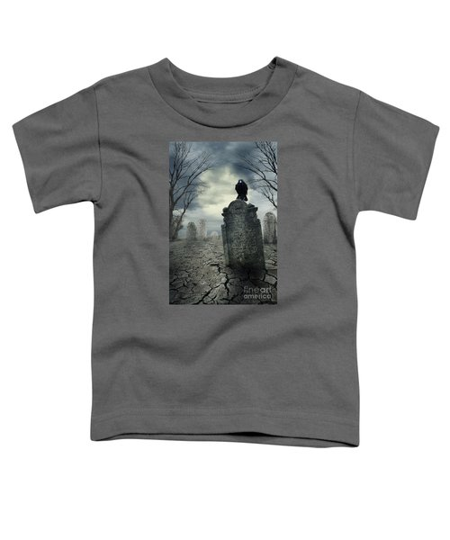 Crow On The Tombstone Toddler T-Shirt
