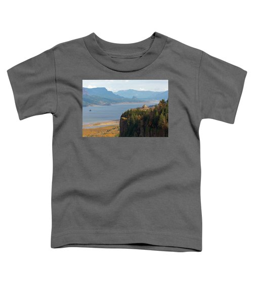 Crown Point On Columbia River Gorge Toddler T-Shirt