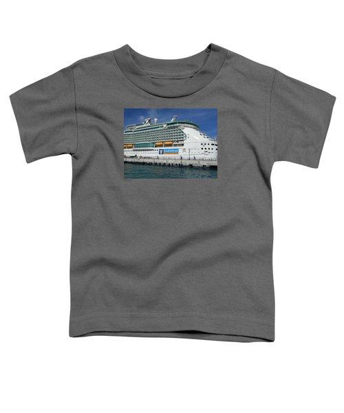 Cruise Ship Toddler T-Shirt by Kathleen Peck