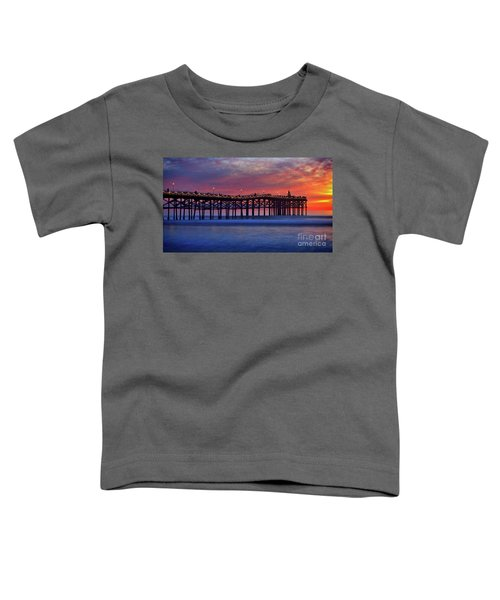 Crystal Pier In Pacific Beach Decorated With Christmas Lights Toddler T-Shirt