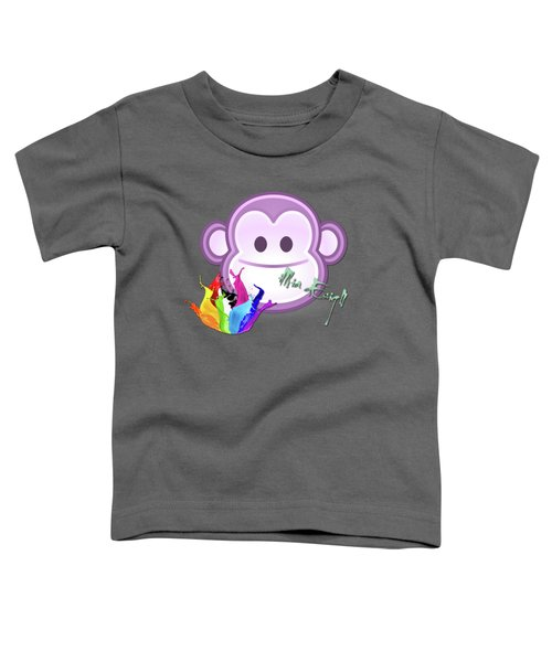 Cute Gorilla Baby Toddler T-Shirt by Maria Astedt