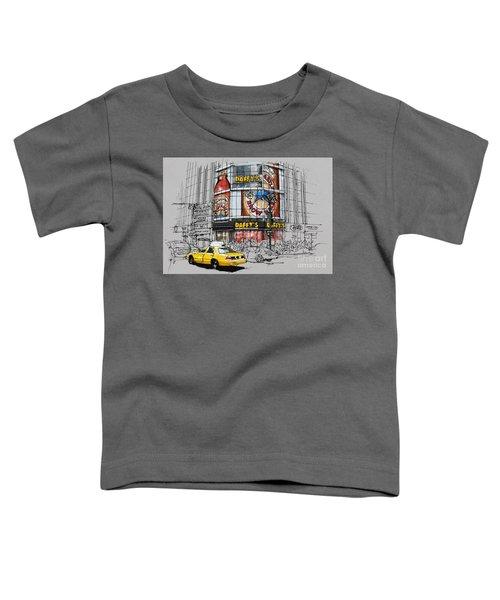Daffys New York City Yellow Cab Original Sketch Toddler T-Shirt