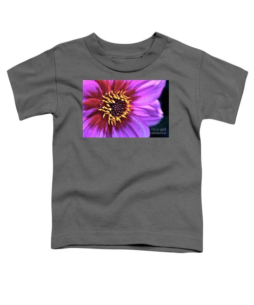 Dahlia Flower Portrait Toddler T-Shirt