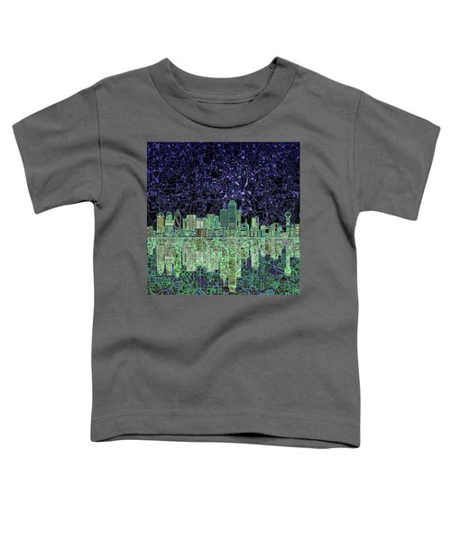 Dallas Skyline Abstract 4 Toddler T-Shirt