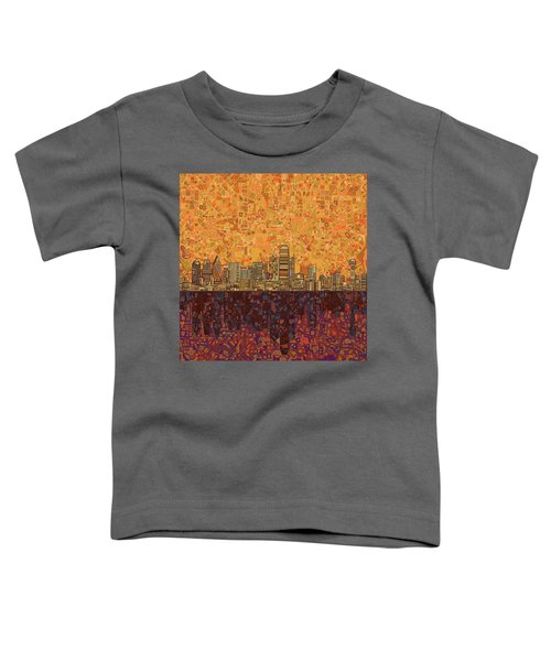 Dallas Skyline Abstract Toddler T-Shirt