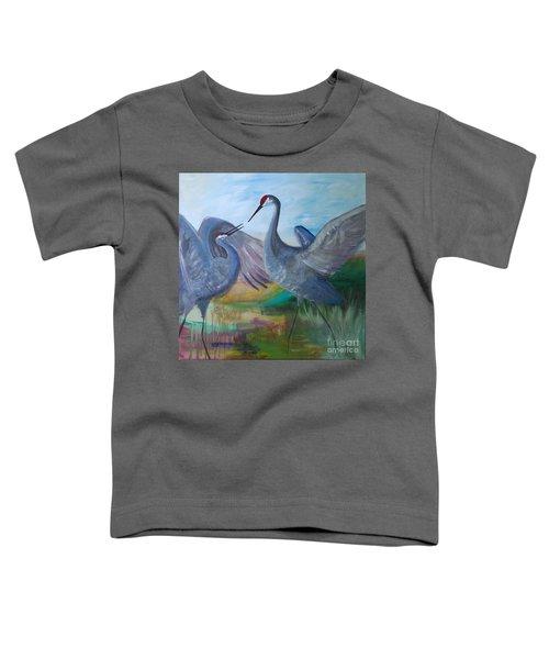 Dancing Cranes Toddler T-Shirt