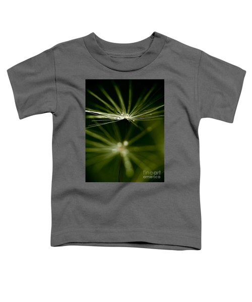 Dandelion Flower With Water Drops  Toddler T-Shirt