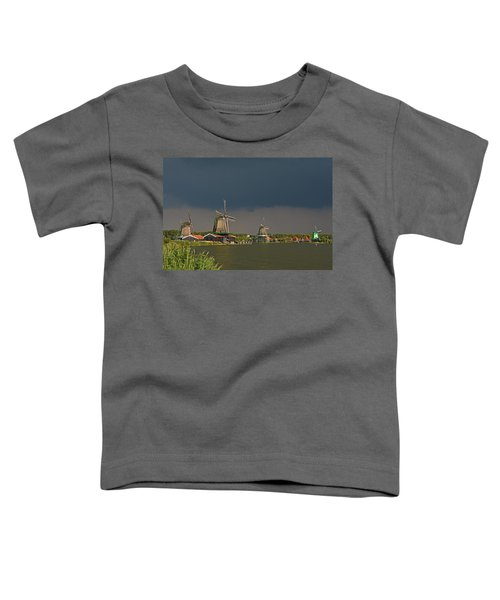 Dark Clouds Above Zaanse Schans Toddler T-Shirt