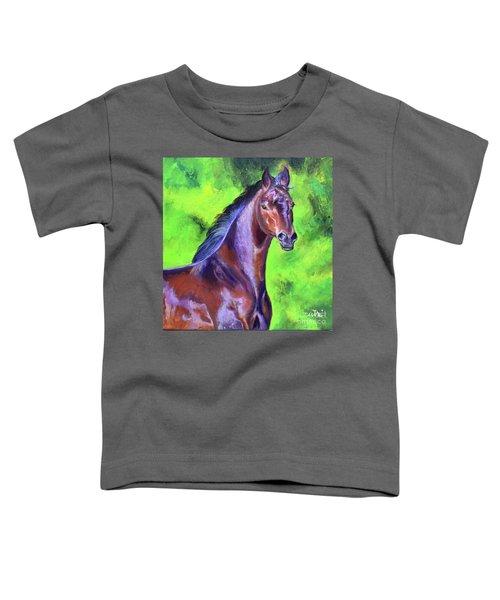 Dark Red Bay Horse Toddler T-Shirt