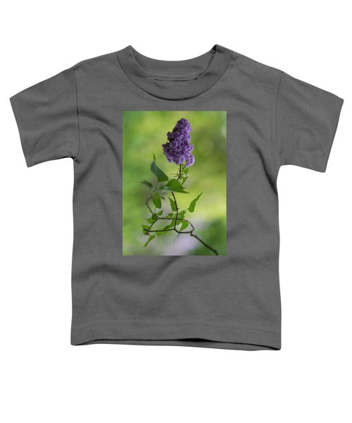 Toddler T-Shirt featuring the photograph Dark Violet Lilac by Jaroslaw Blaminsky