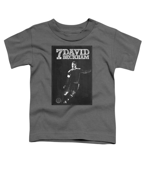 David Beckham Toddler T-Shirt by Semih Yurdabak