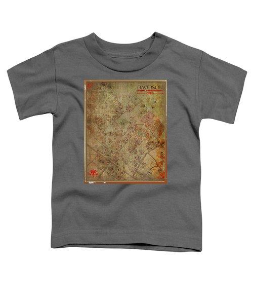 Davidson College Map Toddler T-Shirt