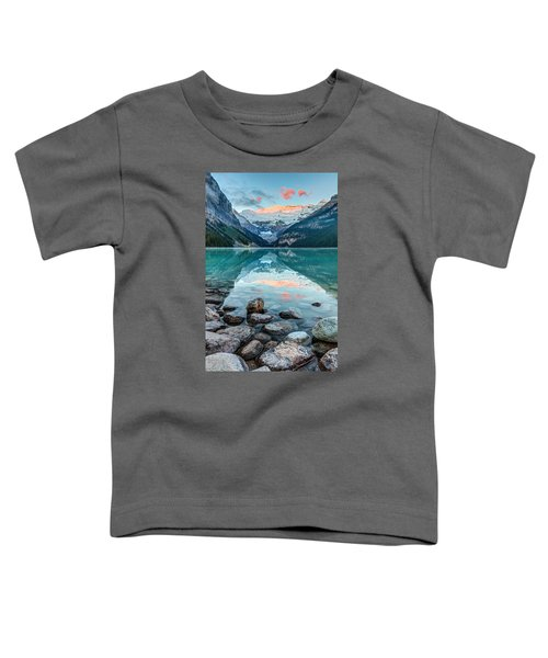 Dawn At Lake Louise Toddler T-Shirt