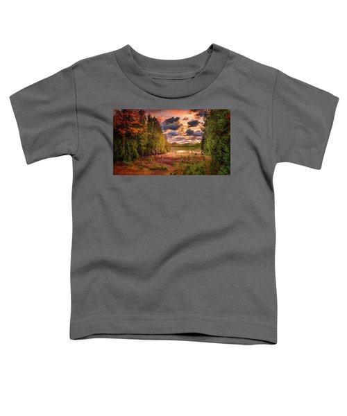 Dawn At The Lake Toddler T-Shirt