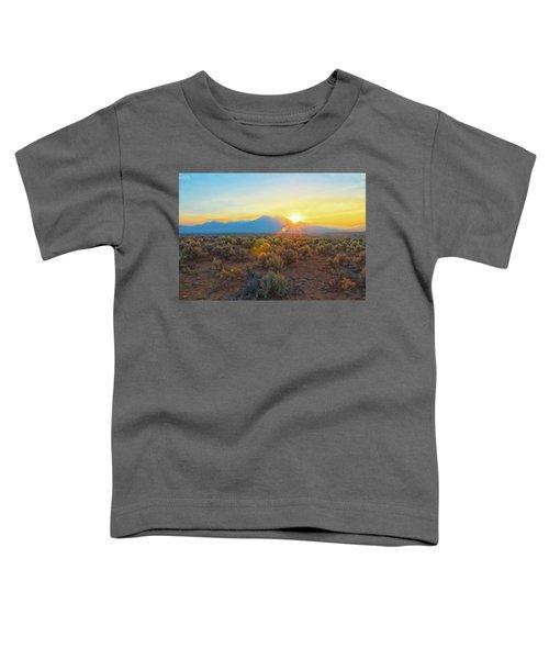 Dawn Over Magic Taos Mountain Toddler T-Shirt