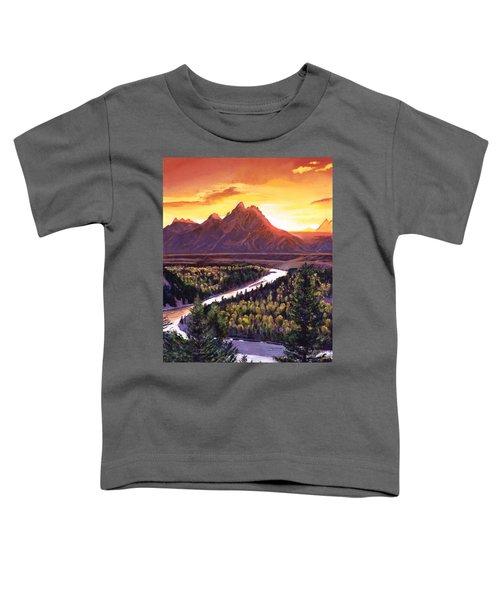 Dawn Over The Grand Tetons Toddler T-Shirt