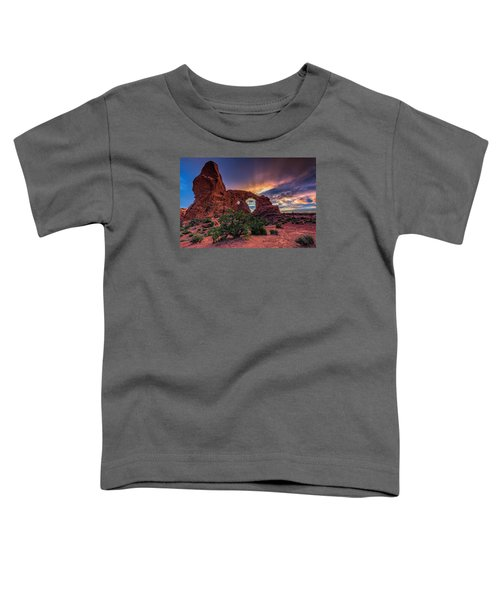 Day's End At Turret Arch Toddler T-Shirt