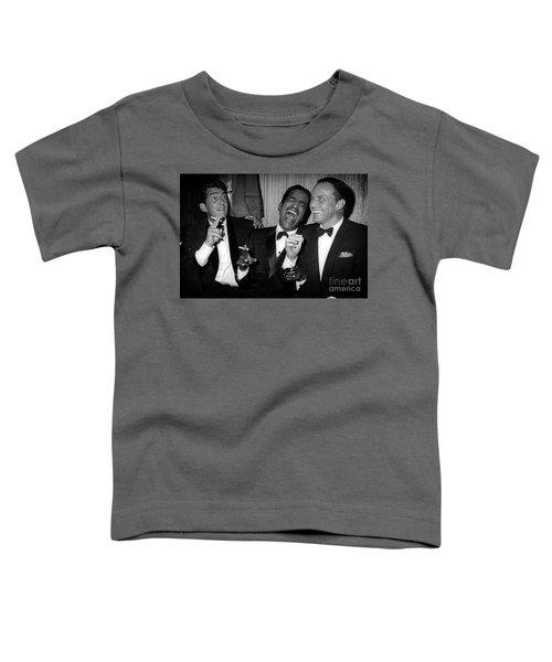 Dean Martin, Sammy Davis Jr. And Frank Sinatra Laughing Toddler T-Shirt