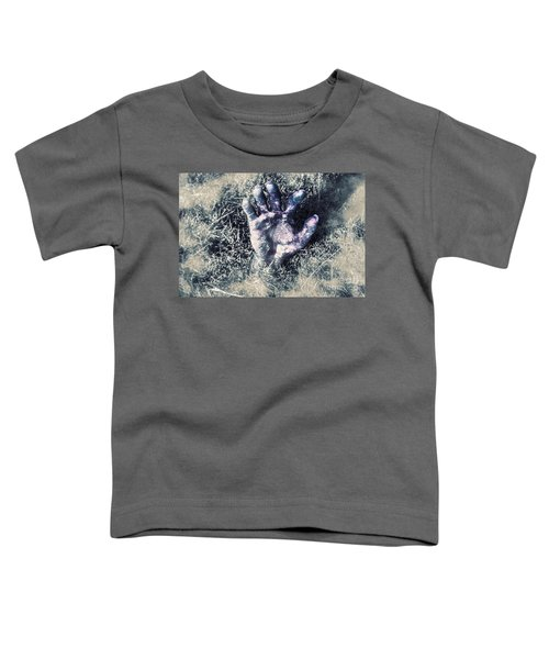 Decaying Zombie Hand Emerging From Ground Toddler T-Shirt