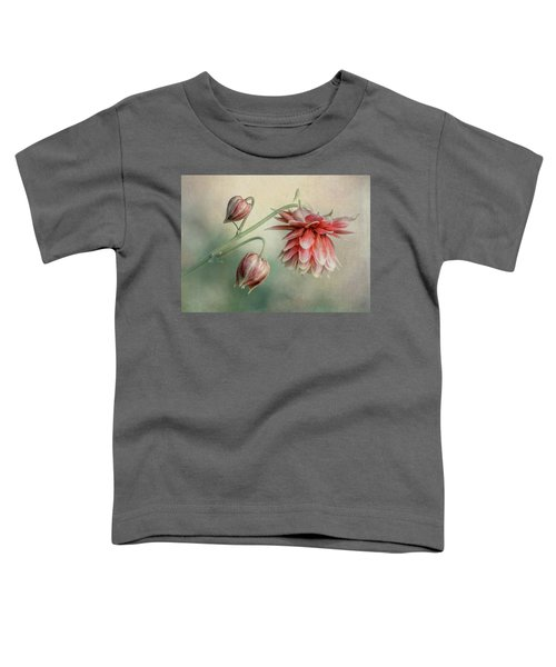 Toddler T-Shirt featuring the photograph Delicate Red Columbine by Jaroslaw Blaminsky