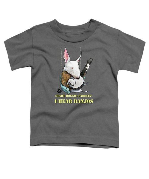 Deliverance Bull Terrier Caricature Art Print Toddler T-Shirt