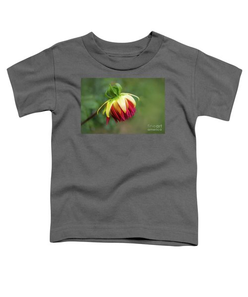 Demure Dahlia Bud Toddler T-Shirt