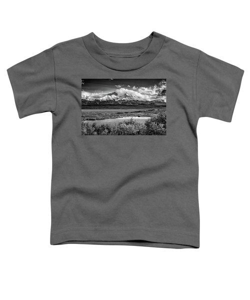 Denali, The High One In Black And White Toddler T-Shirt