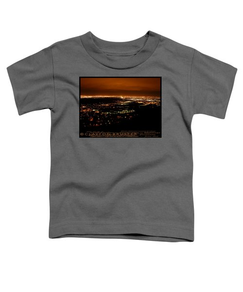Denver Area At Night From Lookout Mountain Toddler T-Shirt