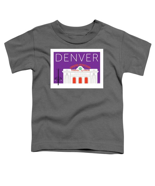 Denver Union Station/purple Toddler T-Shirt