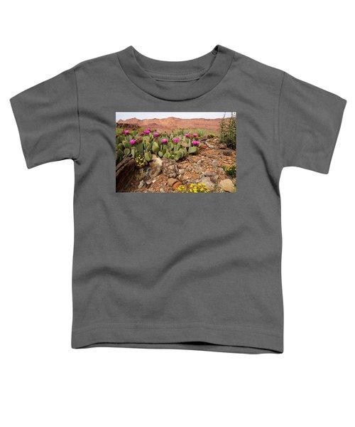 Desert Cactus In Bloom Toddler T-Shirt