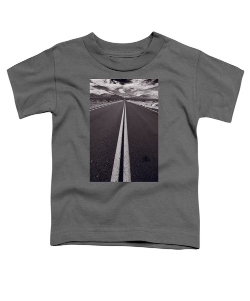 Desert Road Trip B W Toddler T-Shirt by Steve Gadomski