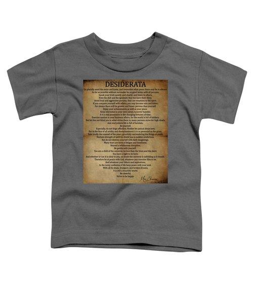 Desiderata Vintage Toddler T-Shirt