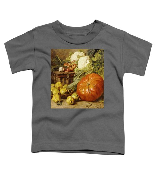 Detail Of A Still Life With A Basket, Pears, Onions, Cauliflowers, Cabbages, Garlic And A Pumpkin Toddler T-Shirt