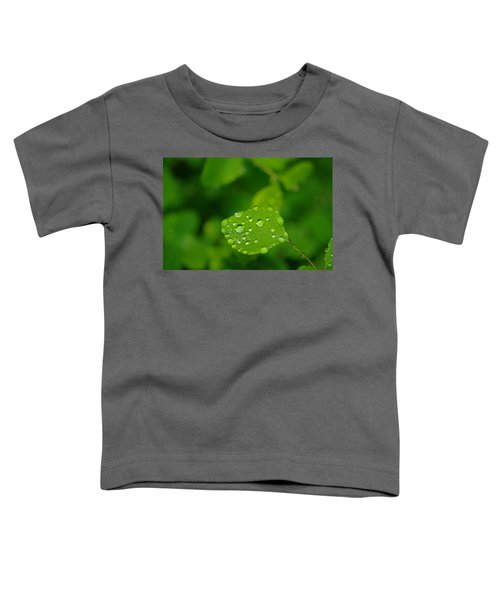 Dew Dappled Leaf Toddler T-Shirt