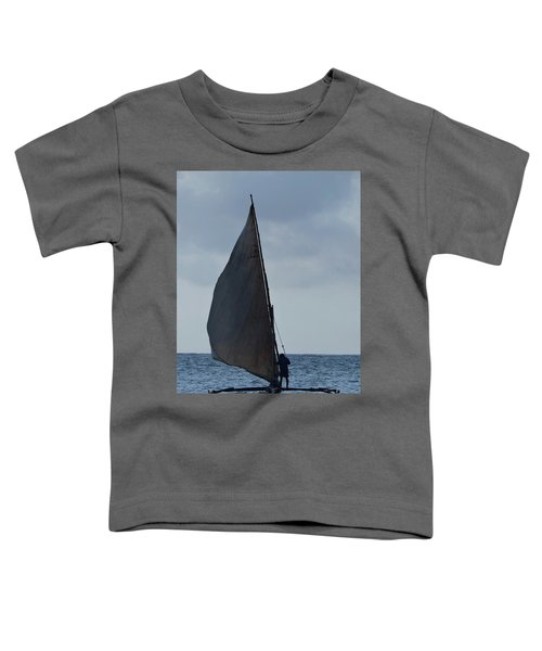 Dhow Wooden Boats In Sail Toddler T-Shirt by Exploramum Exploramum