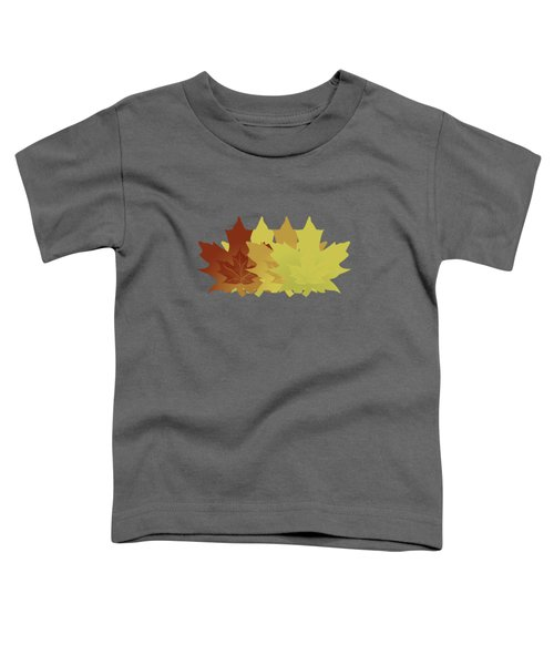 Diagonal Leaf Pattern Toddler T-Shirt by Methune Hively