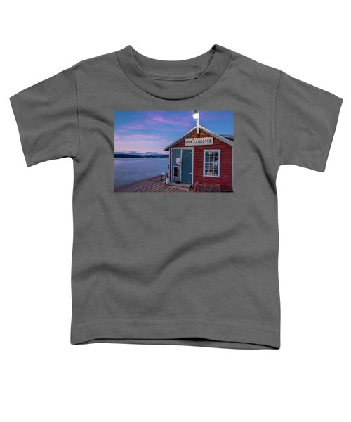 Dicks Lobsters - Crabs Shack In Maine Toddler T-Shirt