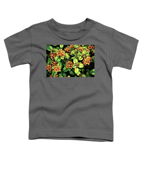 Digital Painting Quilted Garden Flowers 2563 Dp_2 Toddler T-Shirt