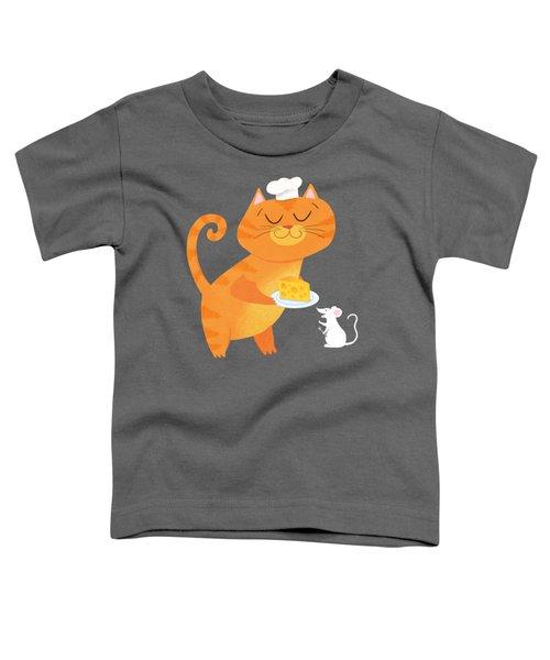 Dinner For Two Toddler T-Shirt by Little Bunny Sunshine