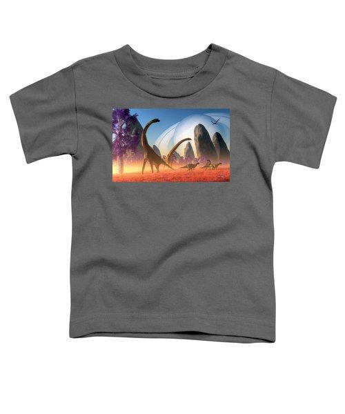 Dinosaur Moon Toddler T-Shirt