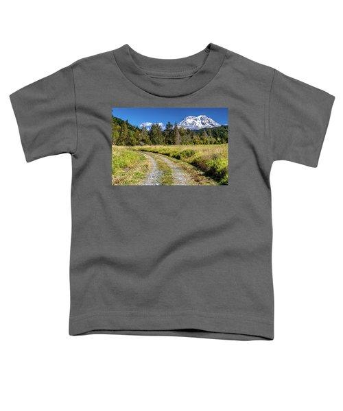 Dirt Road To Mt Rainier Toddler T-Shirt