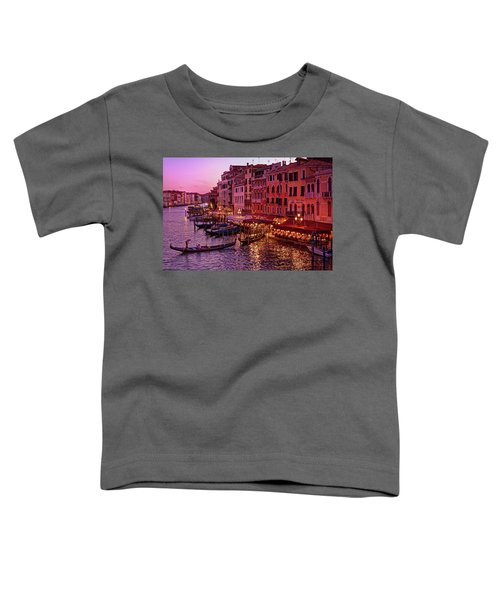 A Cityscape With Vintage Buildings And Gondola - From The Rialto In Venice, Italy Toddler T-Shirt