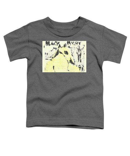 Dog At The Beach - Black Ivory 1 Toddler T-Shirt