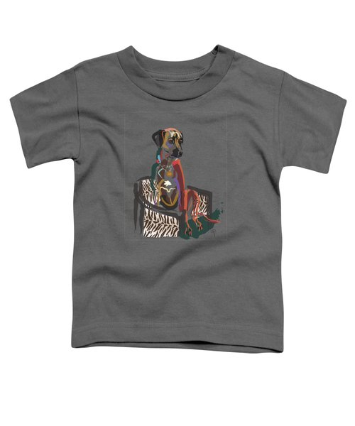 Toddler T-Shirt featuring the painting Dog Scoop by Go Van Kampen