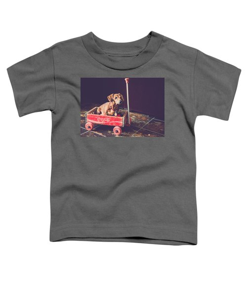 Doggy In A Wagon Toddler T-Shirt