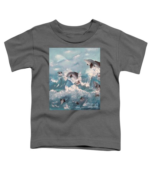 Dolphins At Play Toddler T-Shirt
