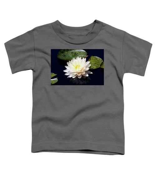 Dotty White Lotus And Lily Pads 0030 Dlw_h_2 Toddler T-Shirt